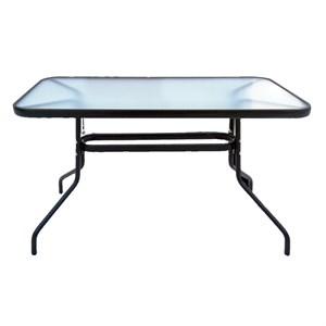 Стол к набору Модерн MD459 (каркас черный, столешница прозрачная)