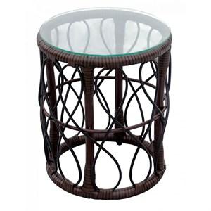 Стол к набору Майорка М457 (каркас кофейный, столешница прозрачная)