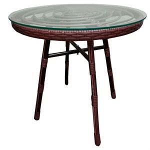 Стол к набору Амальфи SR001 (каркас колорадо,  столешница прозрачная)
