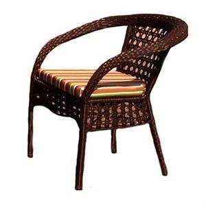 Кресло к набору Каролина А116 оранжевый, коричневый