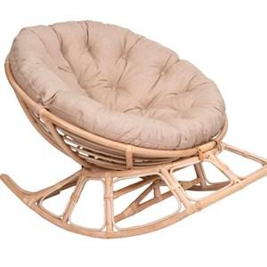 Кресло-качалка на полозьяx Папасан xарли D100 НР100-МТ002 медовый, бежевый Garden story