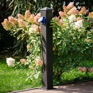 Розетка садовая высокая для подключения двух приборов 54-704