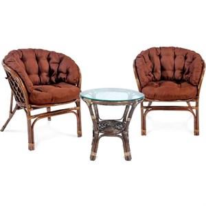 Набор мебели Багамы Премиум мини BTS01/1-МТ002 коньячный, коричневый Garden story