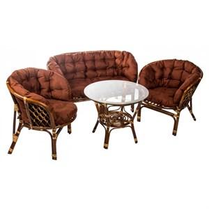 Набор мебели Багамы Премиум BS001/1-МТ002 коньячный, коричневый Garden story