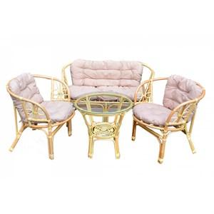 Набор мебели Багамы BS001-МТ002 медовый, бежевый Garden story