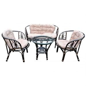 Набор мебели Багамы BS001-МТ001 коньячный, бежевый Garden story