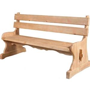 Скамья со спинкой деревянная 3867