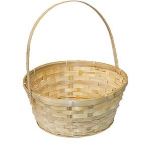 Корзина плетеная бамбук 26*12*30см натуральный
