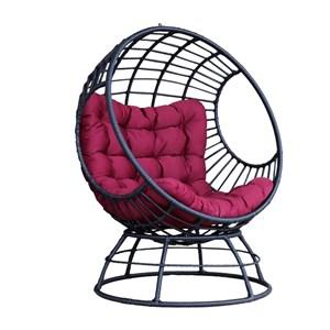 Кресло на подставке Элма черный, бордовый 7022