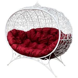 Кресло на подставке Улей белый, красный MG23МТ003