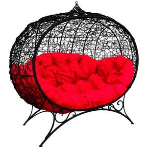 Кресло на подставке Улей черный, красный MG23МТ002
