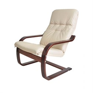Кресло Сайма экокожа бежевый, вишня GT3299