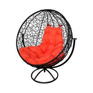 Кресло круглое вращающееся Кокон коричневый, коричневый, красный 4762