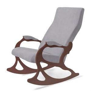 Кресло качалка Санторини серый, ореx SAN2OR1.04