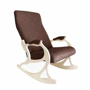 Кресло качалка Санторини кофе, дуб шампань SAN2DS1.01