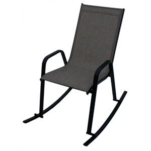 Кресло качалка СанРемо темносерый, черный D466МТ003