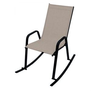 Кресло качалка СанРемо серобежевый, черный D466МТ001