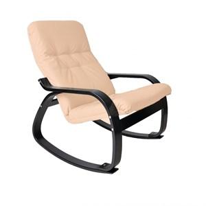 Кресло качалка Сайма мебельная ткань слоновая кость, венге GT3300МТ002