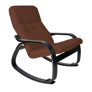 Кресло качалка Сайма мебельная ткань капучино, венге GT3300МТ001