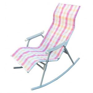 Кресло качалка Нарочь белый, розовый, серый, без м/э С944