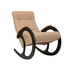 Кресло качалка Ева №3 коричневый, венге, бежевый К671МТ03A