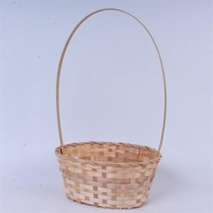 Корзина плетеная бамбук 30*49см беж 5740