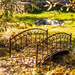 Мост садовый металл и террасная доска 862-27R