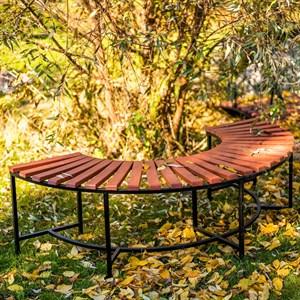 Скамейка полукруглая с деревом 891-56