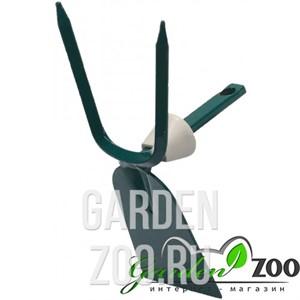 Мотыжка садовая RACO, прямое лезвие, 2 зубца, с быстрозажимным механизмом, 70 мм