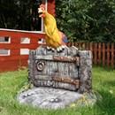 Крышка люка Петух на заборе U08065