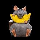 Фигура Мышонок с сыром - фото 53738