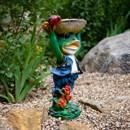 Поилка лягушка в шляпе - фото 61115