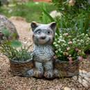 Кашпо двойное кошка - фото 61129
