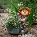 Кашпо мальчик с гусем - фото 61132