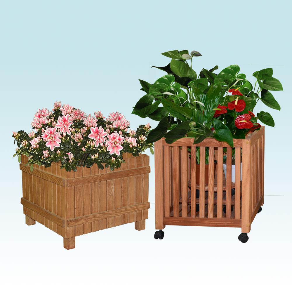 Ящики деревянные для цветов уличные